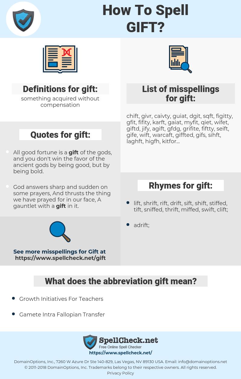 gift, spellcheck gift, how to spell gift, how do you spell gift, correct spelling for gift