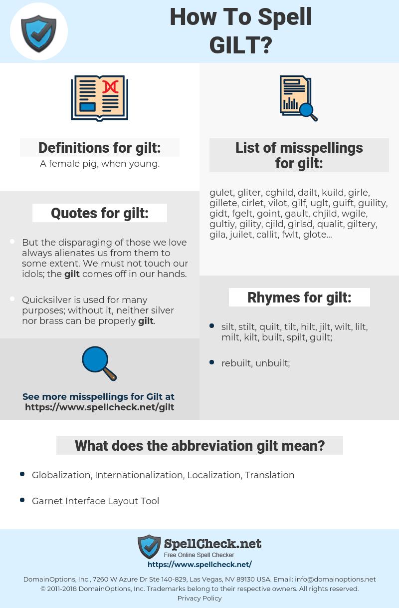 gilt, spellcheck gilt, how to spell gilt, how do you spell gilt, correct spelling for gilt