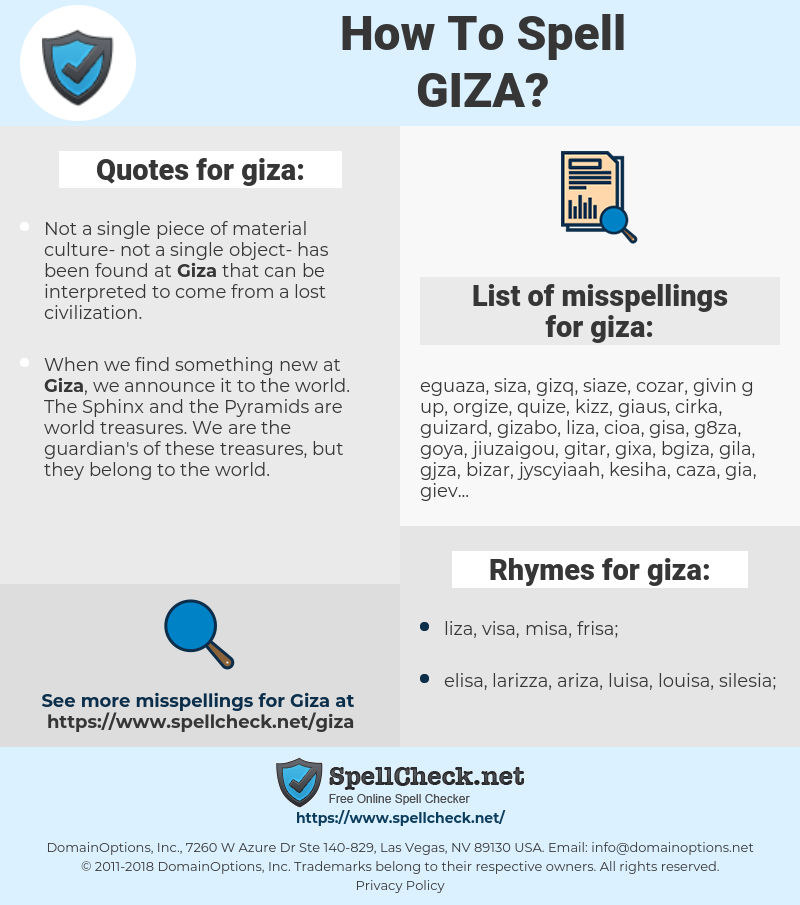 giza, spellcheck giza, how to spell giza, how do you spell giza, correct spelling for giza