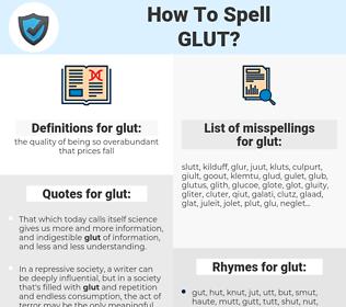 glut, spellcheck glut, how to spell glut, how do you spell glut, correct spelling for glut