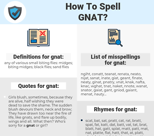 gnat, spellcheck gnat, how to spell gnat, how do you spell gnat, correct spelling for gnat