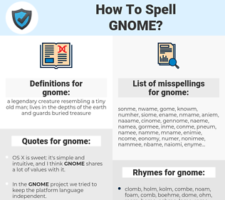 gnome, spellcheck gnome, how to spell gnome, how do you spell gnome, correct spelling for gnome