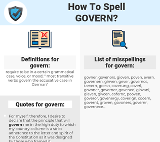govern, spellcheck govern, how to spell govern, how do you spell govern, correct spelling for govern