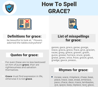 grace, spellcheck grace, how to spell grace, how do you spell grace, correct spelling for grace