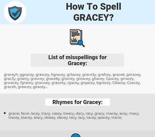 Gracey, spellcheck Gracey, how to spell Gracey, how do you spell Gracey, correct spelling for Gracey