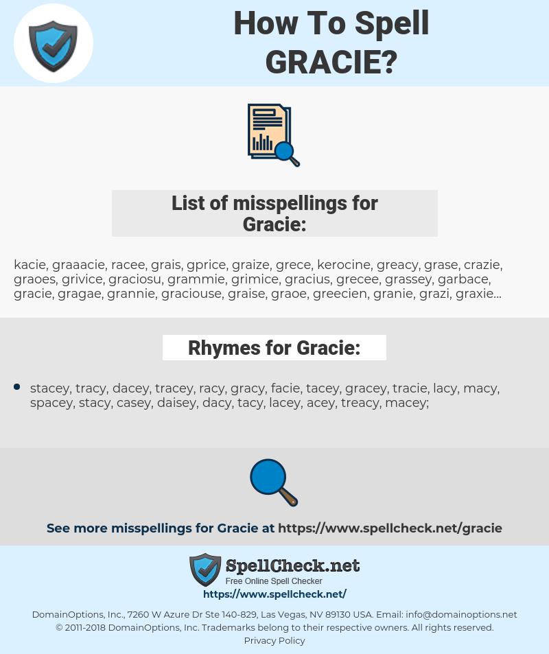 Gracie, spellcheck Gracie, how to spell Gracie, how do you spell Gracie, correct spelling for Gracie