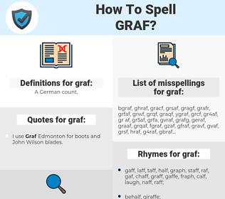 graf, spellcheck graf, how to spell graf, how do you spell graf, correct spelling for graf