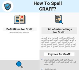 Graff, spellcheck Graff, how to spell Graff, how do you spell Graff, correct spelling for Graff