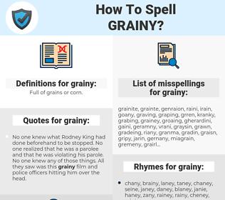 grainy, spellcheck grainy, how to spell grainy, how do you spell grainy, correct spelling for grainy