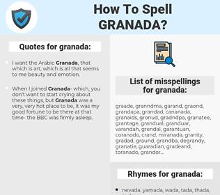 granada, spellcheck granada, how to spell granada, how do you spell granada, correct spelling for granada