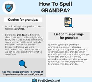 grandpa, spellcheck grandpa, how to spell grandpa, how do you spell grandpa, correct spelling for grandpa