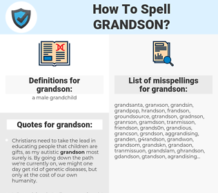 grandson, spellcheck grandson, how to spell grandson, how do you spell grandson, correct spelling for grandson