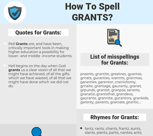 Grants, spellcheck Grants, how to spell Grants, how do you spell Grants, correct spelling for Grants