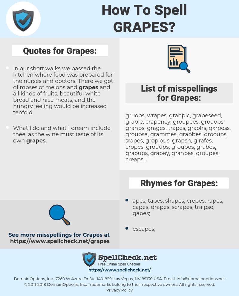 Grapes, spellcheck Grapes, how to spell Grapes, how do you spell Grapes, correct spelling for Grapes