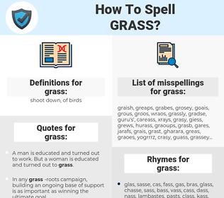 grass, spellcheck grass, how to spell grass, how do you spell grass, correct spelling for grass