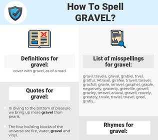 gravel, spellcheck gravel, how to spell gravel, how do you spell gravel, correct spelling for gravel