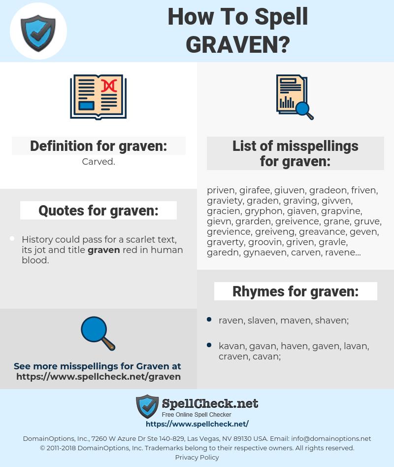graven, spellcheck graven, how to spell graven, how do you spell graven, correct spelling for graven