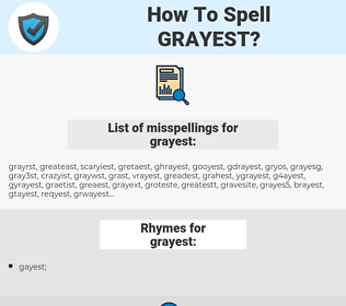 grayest, spellcheck grayest, how to spell grayest, how do you spell grayest, correct spelling for grayest