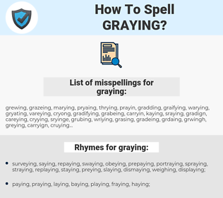graying, spellcheck graying, how to spell graying, how do you spell graying, correct spelling for graying