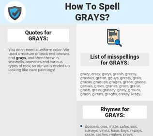 GRAYS, spellcheck GRAYS, how to spell GRAYS, how do you spell GRAYS, correct spelling for GRAYS