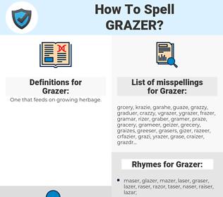 Grazer, spellcheck Grazer, how to spell Grazer, how do you spell Grazer, correct spelling for Grazer