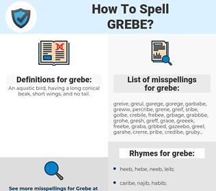 grebe, spellcheck grebe, how to spell grebe, how do you spell grebe, correct spelling for grebe
