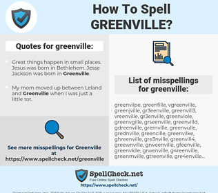 greenville, spellcheck greenville, how to spell greenville, how do you spell greenville, correct spelling for greenville