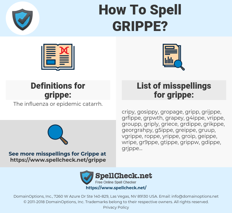 grippe, spellcheck grippe, how to spell grippe, how do you spell grippe, correct spelling for grippe
