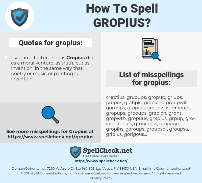 gropius, spellcheck gropius, how to spell gropius, how do you spell gropius, correct spelling for gropius