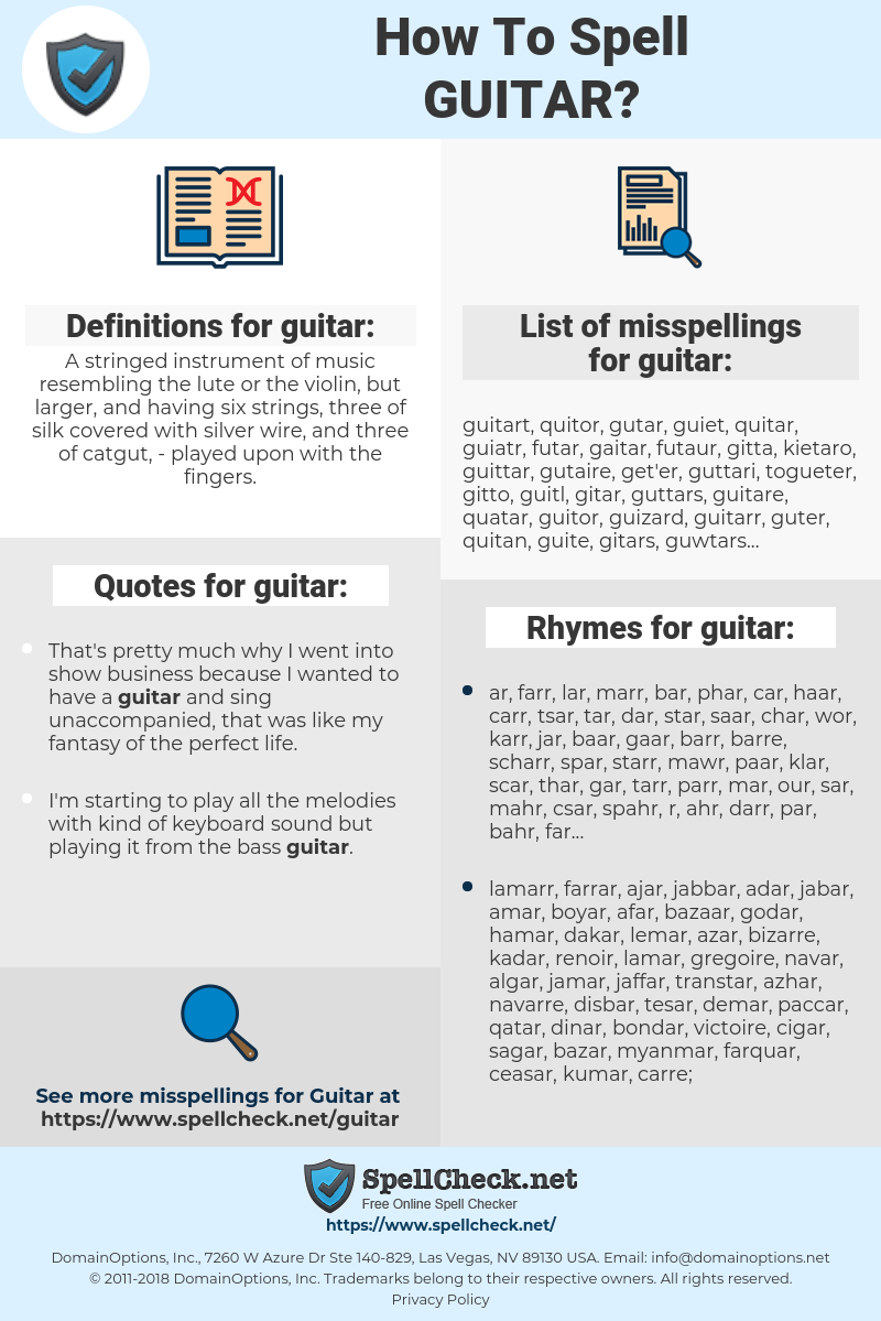 guitar, spellcheck guitar, how to spell guitar, how do you spell guitar, correct spelling for guitar