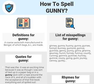 gunny, spellcheck gunny, how to spell gunny, how do you spell gunny, correct spelling for gunny