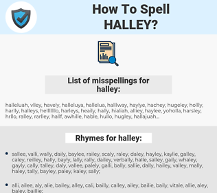 halley, spellcheck halley, how to spell halley, how do you spell halley, correct spelling for halley