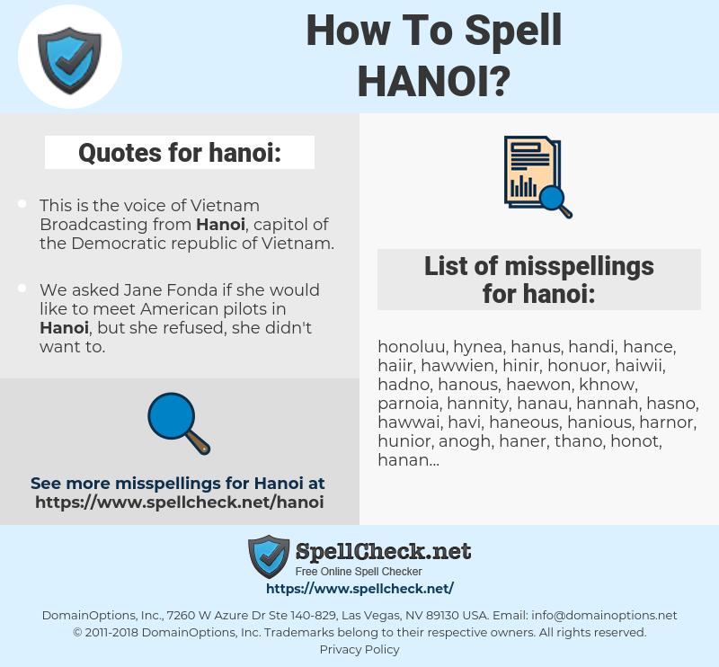hanoi, spellcheck hanoi, how to spell hanoi, how do you spell hanoi, correct spelling for hanoi
