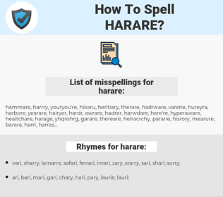 harare, spellcheck harare, how to spell harare, how do you spell harare, correct spelling for harare