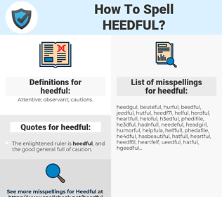 heedful, spellcheck heedful, how to spell heedful, how do you spell heedful, correct spelling for heedful
