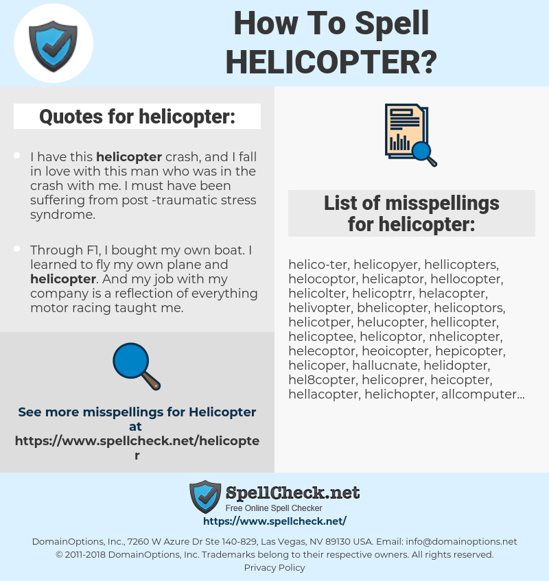 helicopter, spellcheck helicopter, how to spell helicopter, how do you spell helicopter, correct spelling for helicopter