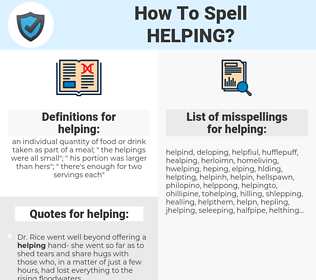 helping, spellcheck helping, how to spell helping, how do you spell helping, correct spelling for helping