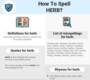 herb, spellcheck herb, how to spell herb, how do you spell herb, correct spelling for herb