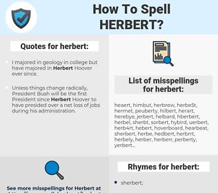 herbert, spellcheck herbert, how to spell herbert, how do you spell herbert, correct spelling for herbert
