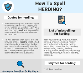 herding, spellcheck herding, how to spell herding, how do you spell herding, correct spelling for herding
