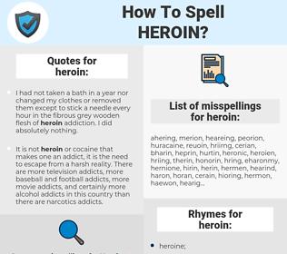 heroin, spellcheck heroin, how to spell heroin, how do you spell heroin, correct spelling for heroin
