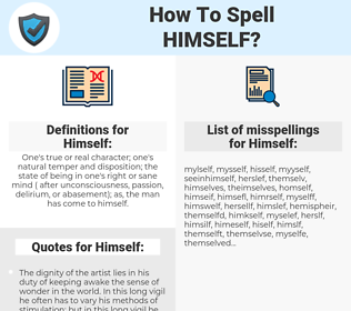 Himself, spellcheck Himself, how to spell Himself, how do you spell Himself, correct spelling for Himself