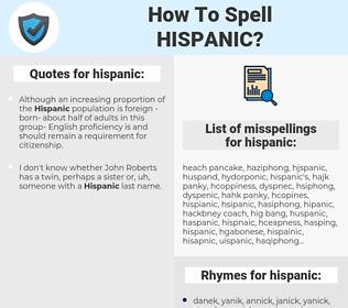 hispanic, spellcheck hispanic, how to spell hispanic, how do you spell hispanic, correct spelling for hispanic