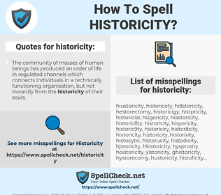 Historicality Definition