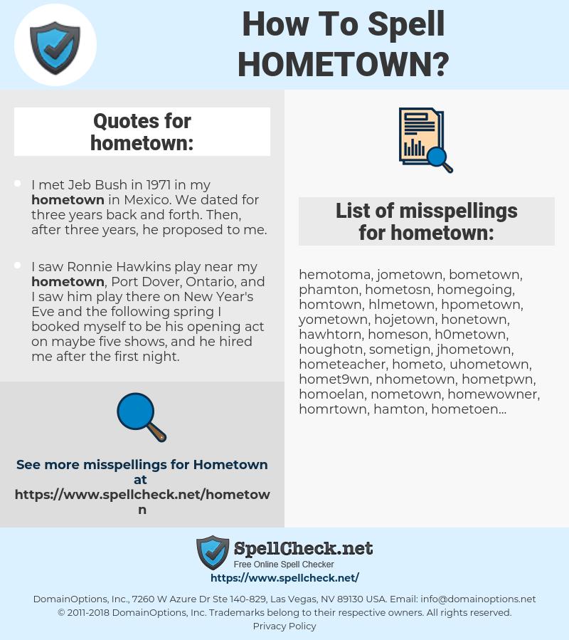 How To Spell Hometown Spellcheck