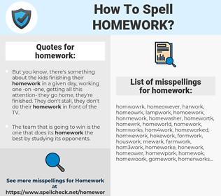 homework, spellcheck homework, how to spell homework, how do you spell homework, correct spelling for homework