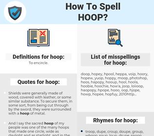 hoop, spellcheck hoop, how to spell hoop, how do you spell hoop, correct spelling for hoop