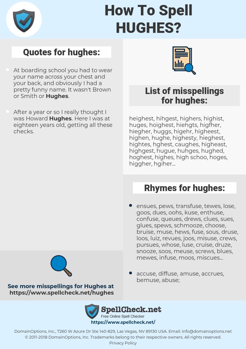 hughes, spellcheck hughes, how to spell hughes, how do you spell hughes, correct spelling for hughes