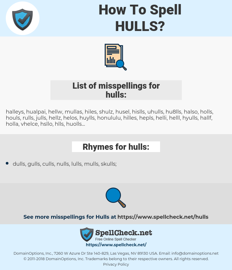 hulls, spellcheck hulls, how to spell hulls, how do you spell hulls, correct spelling for hulls