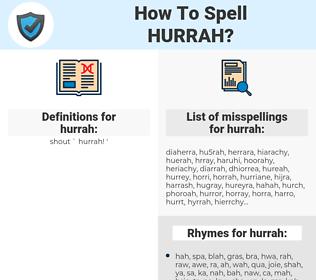 hurrah, spellcheck hurrah, how to spell hurrah, how do you spell hurrah, correct spelling for hurrah